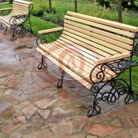 Кованая лавочка (скамейка)
