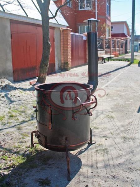 Печь — буржуйка для казана. Диаметр 500 мм