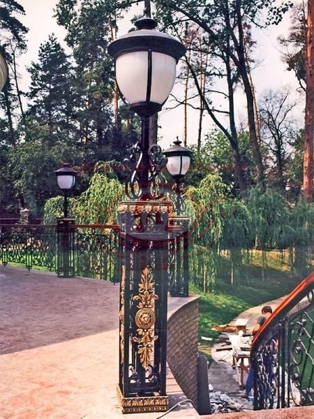 Парковое ограждение с бронзовым литьём