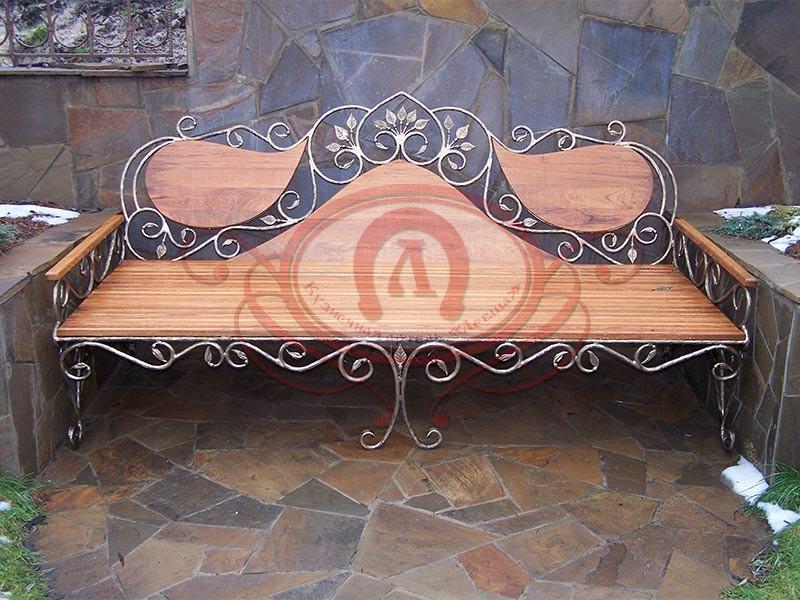 Садовая скамейка (материал бронза)